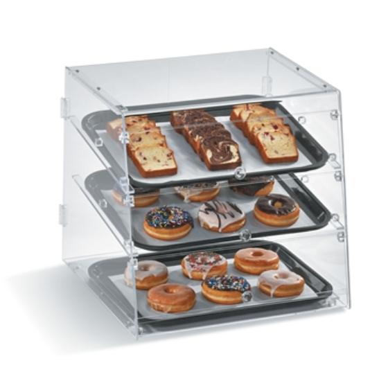 Transparent Bakery Case Display
